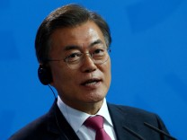 South Korean President Moon Jae-in attends news conference in Berlin
