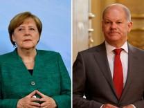 Olaf Scholz Angela Merkel