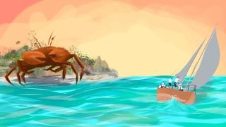 krabbe am meer
