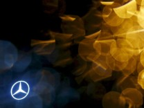 File photo of Mercedes Benz logo before the company's annual news conference in Stuttgart