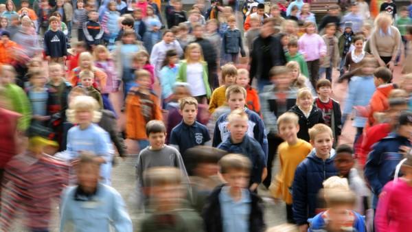 Schulkinder in Frankfurt