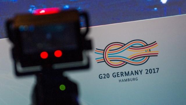 G20-Gipfel - Medienzentrum für Journalisten