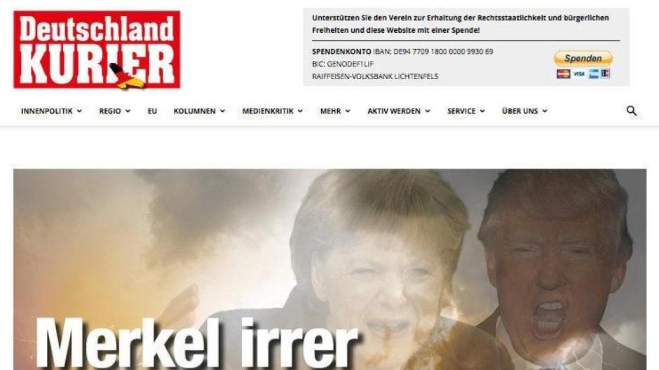 """Titelseite des """"Deutschland-Kurier"""""""