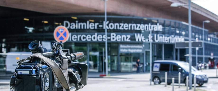 Bilder von der Daimler Konzernzentrale in Stuttgart Dieselaffäre Stuttgart Copyright 7aktuell d