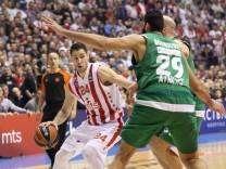 STEFAN JOVIC kosarkas Roter Stern na utakmici Evrolige protiv Panathinaikos Athen vs Roter Stern Be; Basketball