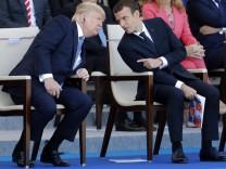 Trump Macron Staatsbesuch Paris Parade