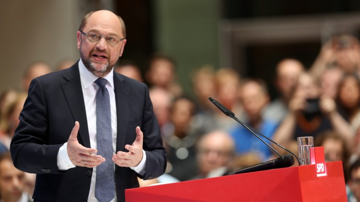 Martin Schulz Presents His Vision For Germany