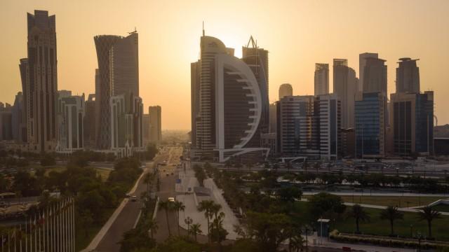 Sonnenuntergang in Doha