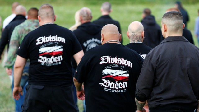 """6000 Neonazis kamen beim """"Sturm auf Themar"""" in die Ortschaft in Thüringen"""