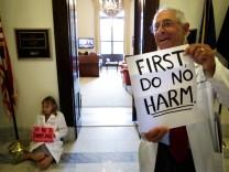 Proteste gegen US-Gesundheitsreform
