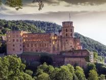 Famous castle ruins, Heidelberg, Germany; Heidelberger Schloss