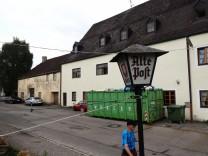 Anzing Alte Post Anbau wegen Neubau Hotel