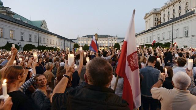 Justiz Polens Gerichtspräsidentin zur Justizreform