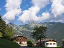 Germany Bavaria Chiemgau Alps mountain inn Streichen with Breitenstein and Geigelstein PUBLICATIO