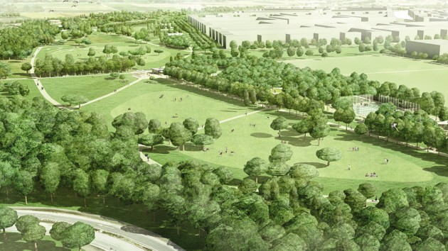 Park auf Hintergrund für Ipad