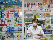 MOSCOW RUSSIA JANUARY 29 2015 A pharmacy in Moscow The prices for medicines are expected to ris