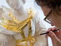 Zeppelinhalle : Leistungsschaus der  städt. Meisterschulen für Maler- und Lackierer, Vergolder und Kirchenmaler