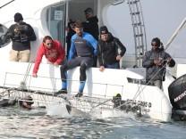 PR-Aktion: Michael Phelps gegen Weißen Hai