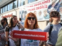 A Rally is Held In Support Of Journalists On Terrorism Charges