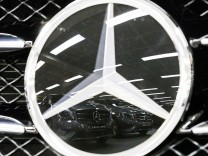 File picture of Mercedes-Benz A-class cars displayed in Paris