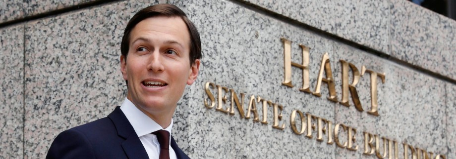 White House Senior Adviser Kushner departs after closed session of the Senate Intelligence Committee in Washington