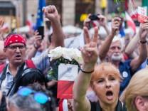 Demonstration gegen Polens Justizreform