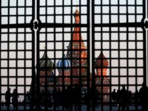 FILE PHOTO:St. Basil's Cathedral is seen through a gate in Red Square in central Moscow