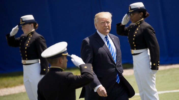 Donald Trump Delivers Commencement Address At U.S. Coast Guard Academy