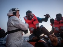 MOAS Search For Migrants On The Mediterranean