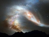 Milchstraße steht Kollision bevor