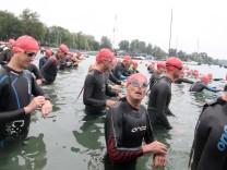 Triathleten kämpfen am Wörthsee um den Sieg; Wörthsee-Triathlon