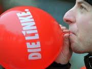Der Ballon könnte bald platzen: Die Linkspartei im Superwahljahr 2009. Foto: dpa