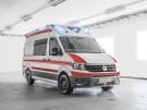 VW Crafter Krankenwagen Front Seite Standbild