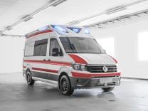 Der neue VW Crafter als Krankenwagen.