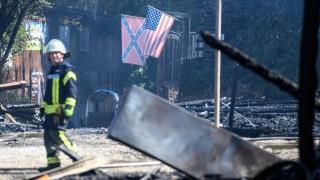 Feuer in Freizeitpark Western-City in Dasing