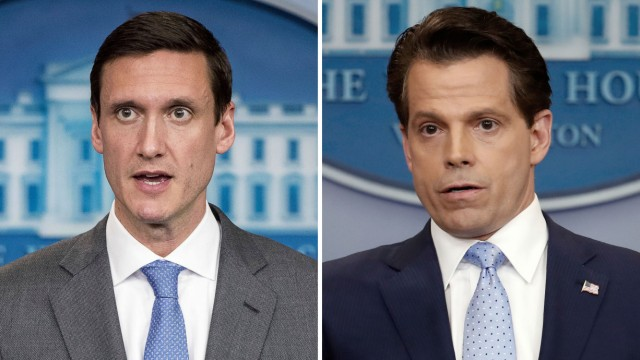 Tom Bossert und  Anthony Scaramucci