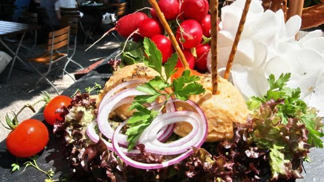 Essen und Trinken Bayerische Spezialität