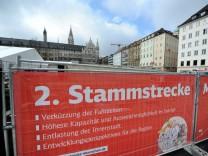 Baustelle für 2. S-Bahn Stammstrecke am Marienhof in München, 2017