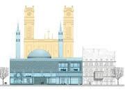 Planskizze Moschee am Gotzinger Platz
