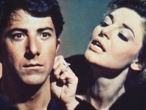 Dustin Hoffman Anne Bancroft The Graduate 1967 AVCO Embassy Rialto Pictures Hollywood CA USA PU