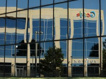 Google logo on office building in Irvine, California