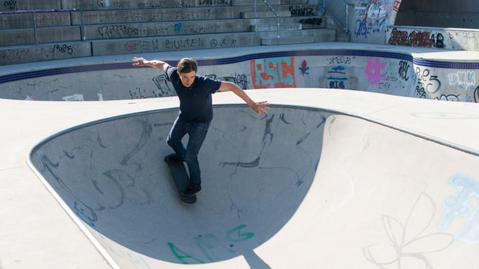 Marc Baumann Skaten mit 40