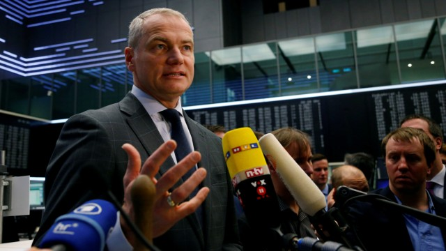 FILE PHOTO: Carsten Kengeter, CEO of Deutsche Boerse attends the launch of an initial public offering  at the stock exchange in Frankfurt.