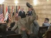 Bush, Bagdad, Schuh-Attacke, AP