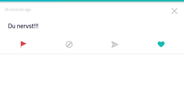 Screenshot Sarahah App