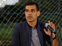 Mexican soccer star Rafael 'Rafa' Marquez attends a news conference in Guadalajara