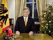 Weihnachtsansprache von Horst Köhler; dpa