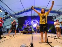 La Brass Banda bei 1200-Jahr-Feier in Menzing, 2017