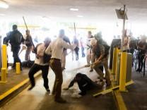 August 12 2017 Charlottesville Virginia United States Several white supremacists attack a bla