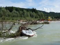 Schiffbruch auf der Isar